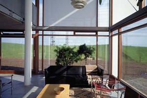 Optagelser af glashuset i Ballerup for arkitekten Boje Lundgaard