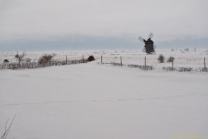 Øland i snevejr