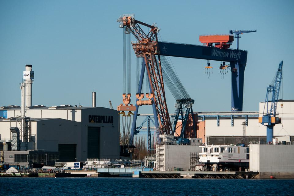 Ved havnen i Rostock på vej hjem